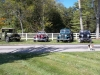 1948 Willys CJ-2A, 1949 Jeepster, 1952 Truck, and 1952 M37