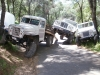 1948 Willys Truck, 1964 Kaiser Truck, and 1946 Willys CJ-2A