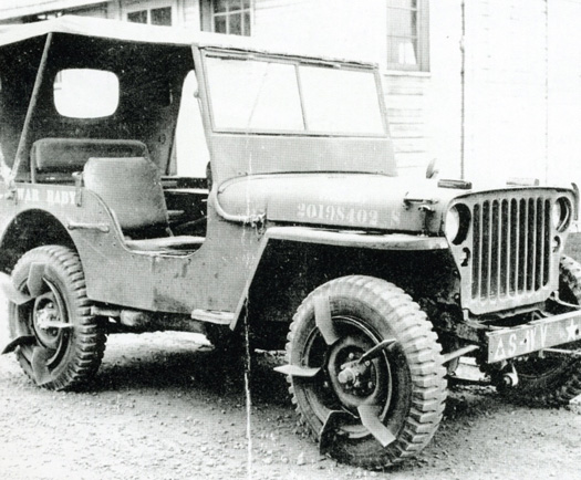 Willys MB Paddle Wheels
