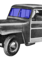 Replacement Windshield Glass for 1946-1960 Truck, Station Wagon
