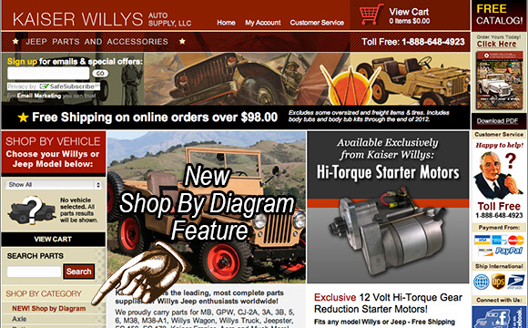 Search Willys Jeep Parts by Diagram - New Feature!