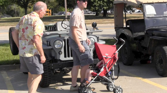 Three generations of Willys Jeep Enthusiasts