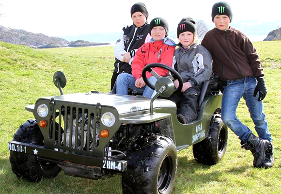 Mini Willys Jeep shown in Bjugn, Norway